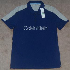 New Mens Calvin Klein Chest Logo Short Sleeve Polo